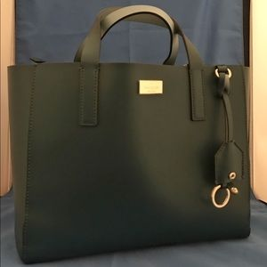 New never used Kate Spade structured tote green